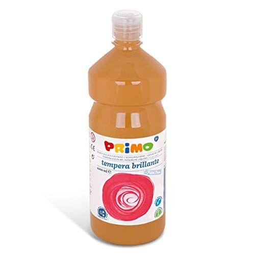primo, tempera primi passi, bottiglia da 1000 ml, colore ocra gialla
