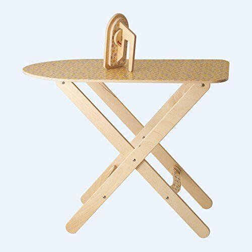 dida - asse da stiro giocattolo con ferro da stiro in legno - gioco d'imitazione