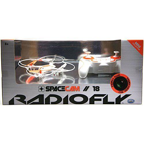 dso ods 37966 - radiofly space cam // 18: drone radiocomandato, 8 funzioni, colori assortiti: bianco/arancione
