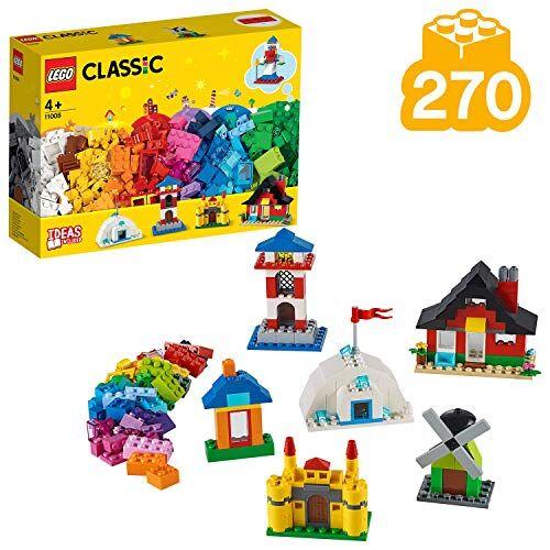 lego classic mattoncini e case, set di costruzioni con infinite possibilit di gioco, per costruire sei edifici differenti, 4+ anni, 11008