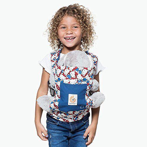 Ergobaby Marsupio per Bambole Giocattolo per Bambini, Hello Kitty Classico Portabambole in Cotone 100%