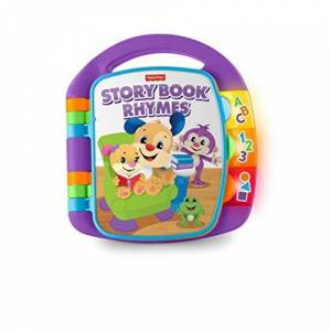 Fisher Price CDH26 Giocattolo di attivit Laugh And Learn Storybook Rhymes, Colore Blu