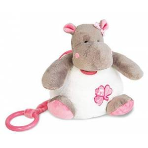 Baby Nat 'Scatola a musica zoé l' ippopotamo rosa
