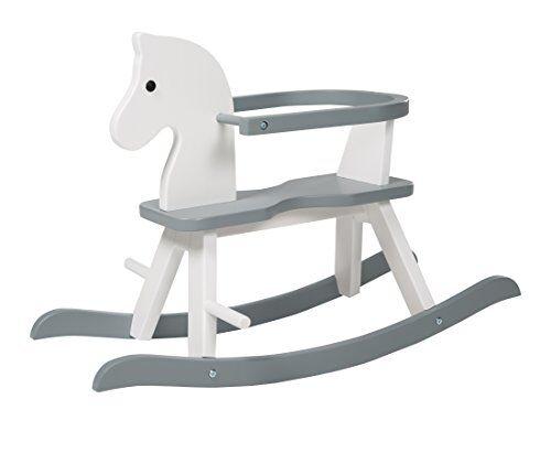 roba cavallo a dondolo bianco, colore grigio, única, 6918w