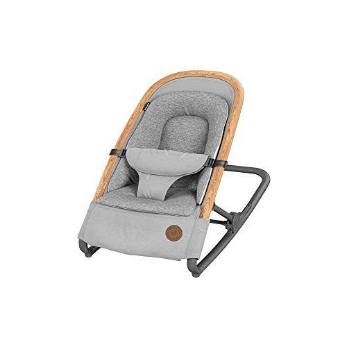 bébé confort kori sdraietta neonati ergonomica in tessuto, a dondolo con movimento naturale senza elettricità, sdraietta pieghevole, grigio