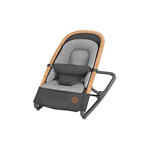 bébé confort kori sdraietta neonati ergonomica in tessuto, a dondolo con movimento naturale senza elettricità, pieghevole, grafite