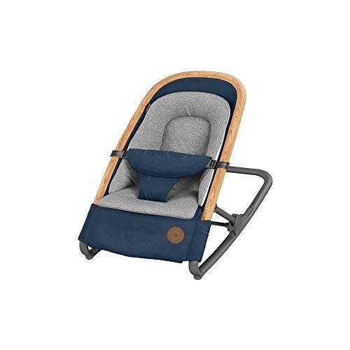 bébé confort kori sdraietta neonati ergonomica in tessuto, a dondolo con movimento naturale senza elettricità, sdraietta pieghevole, blu