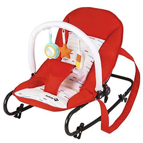 safety 1st koala sdraietta neonati a dondolo con arco giochi, fino ai 9 kg, colore red lines