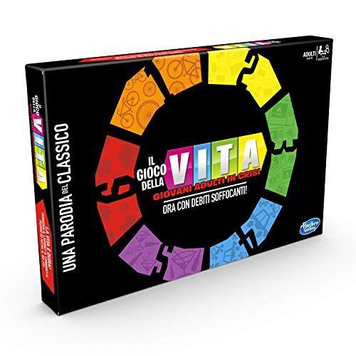 Hasbro Gaming Gioco della Vita: Giovani Adulti in Crisi, Esclusiva Amazon, Multicolore, E4979103