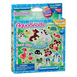 Aquabeads- Animal Friends Set, Perle 600 / col 9 Perline per bricolage, Multicolore, 79298