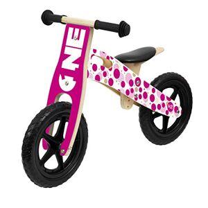Sunsport Sun&Sport - Balance Bike in Legno Girl - Biciletta Bambina Equilibrio - Bici Rosa Bimba 6 Anni