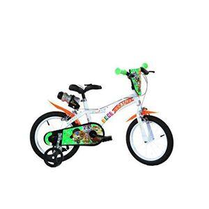 """dino Bici 44 Gatti 14"""" Bicicletta 14 Bambino Bambina Cats Gatto 5-7 Anni"""