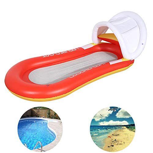 queta materasso gonfiabile piscina amaca gonfiabile mare materassino gonfiabile per piscina mare nuotare prendere il sole arancione 160*90cm