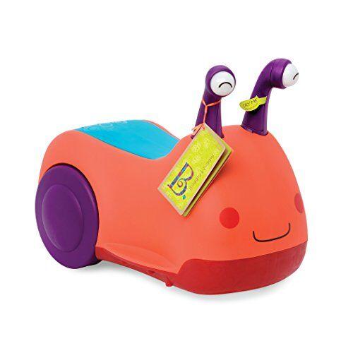b. toys- primi passi cavalcabile-buggly wuggly b.toys, colore arancione, bx1388z