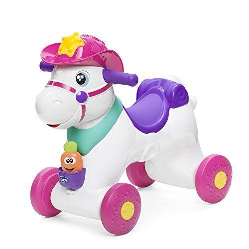 chicco - miss rodeo cavallo a dondolo, gioco interattivo cavalcabile, adatto da 1 anno, colore rosa, 7907100000