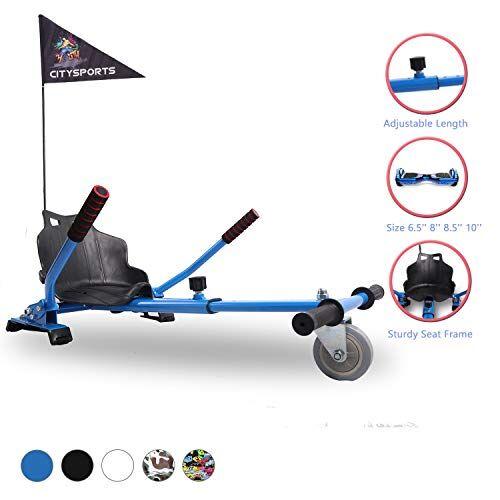 citysports hoverkart con sedile, hovercart montaggio universale regolabile, scooter autobilanciante compatibile da 6,5 a 10