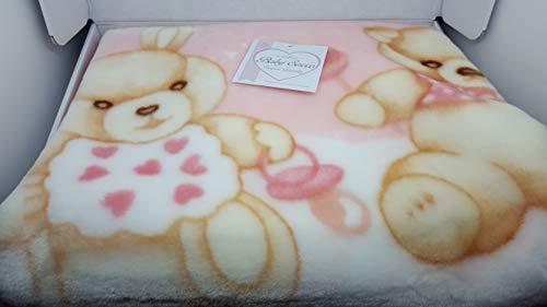 t&r baby sacco copertina coperta pile culla carrozzina bimbo neonato t&r cielo rosa