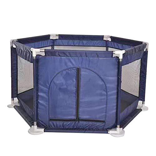 guocu box per bambini,box pieghevole e portatile per bambini,box pieghevole esagonale con rete traspirante per 0-4 anni marina militare taglia unica