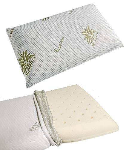 valoreitalia cuscino per bambino memory foam 100% lavabile antisoffoco per culla e lettino baby (bimbo 35x50x5.5 cm)