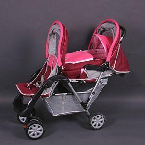 Bambino World Passeggino fratelli o gemellare rosa Top Design - BambinoWorld