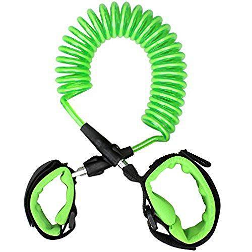 SYCASE Anti perso cinturino Link, Sycase 360ruotabile metallo testa bambini Harness Walking guinzaglio Hand Band Wristband morbido comodo e sicuro per i pi piccoli bambini 2.5m