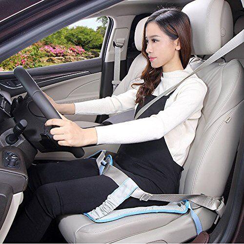 bigwing style cintura di sicurezza auto per la gravidanza cuscino da auto per donne in gravidanza con passanti per cintura di sicurezza protegge il bambino e la madre evitando il rischio di aborto - blu