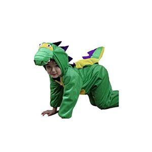 Matissa Bambini Costumi Animali Ragazzi Ragazze Unisex Pigiama Fancy Dress Outfit Cosplay Bambini Onesies (Dinosauro, XL (per Bambini 120- 140 cm di Altezza))