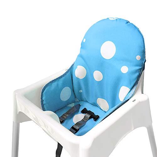 ZARPMA Cuscino Seggiolone coprisedili per Ikea Antilop,Lavabile per Bambini Pieghevole Ikea Childs Sedia coprisedili Ricoperto-Non Include Di Seggiolone E Cintura Di Sicurezza (Blu)