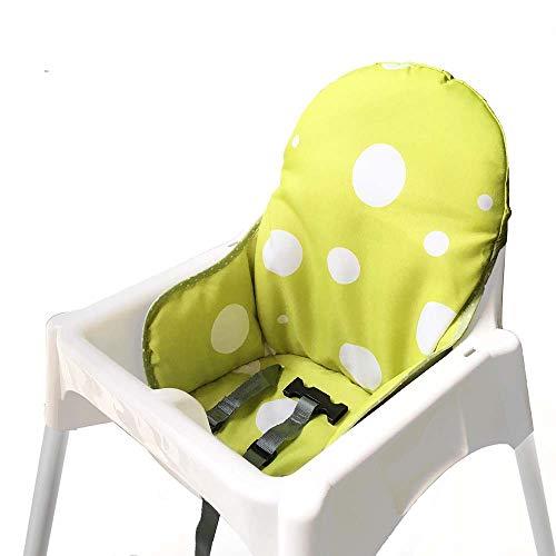 ZARPMA Cuscino Seggiolone coprisedili per Ikea Antilop,Lavabile per Bambini Pieghevole Ikea Childs Sedia coprisedili Ricoperto-Non Include Di Seggiolone E Cintura Di Sicurezza (Giallo verde)