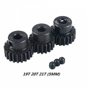 Crazepony-UK 32DP 5mm 19T 20T 21T Motor Pinion Gear for 1/8 RC Car Brushed Brushless Motor