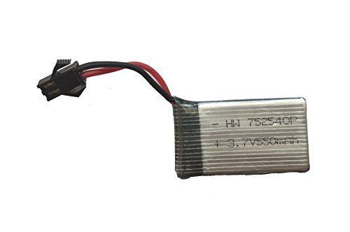fp-tech fp-bt-x4 - batteria di ricambio 550 mah 3.7 v per drone radiocomandato x4