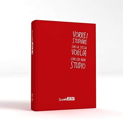 ScuolaZoo Agenda Diario Scolastico 2020-2021 con Meme divertentissimi e Tanti Adesivi, Disponibile in 6 Colori e 2 Dimensioni (Rosso, Classic)