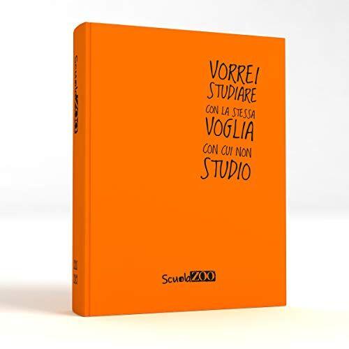 ScuolaZoo Agenda Diario Scolastico 2020-2021 con Meme divertentissimi e Tanti Adesivi, Disponibile in 6 Colori e 2 Dimensioni (Arancione Fluo, Giant)
