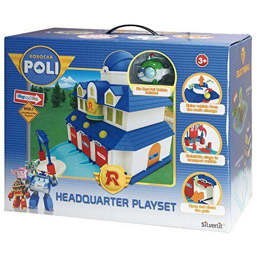 rocco giocattoli 83156 - robocar poli quartier generale playset