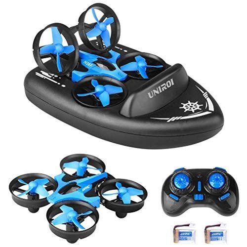 zuoshini droni radiocomandati per bambini 3 in 1 mini rc drone telecomando auto barca modalit quadricottero con rotazione a 360  modalit acrobatica senza testa per bambini giocattoli regali