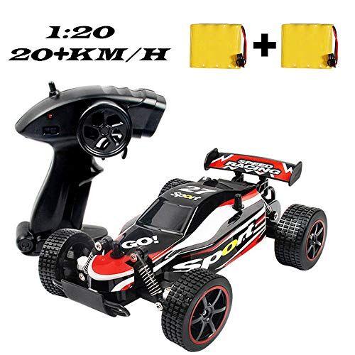 szjjx macchina telecomandata 25km/h alta velocit rc auto telecomandata di tutto terreno 2.4ghz 1:20 macchina radiocomandata con 2 batterie caricabile, macchinine giocattolo giochi per bambini rosso