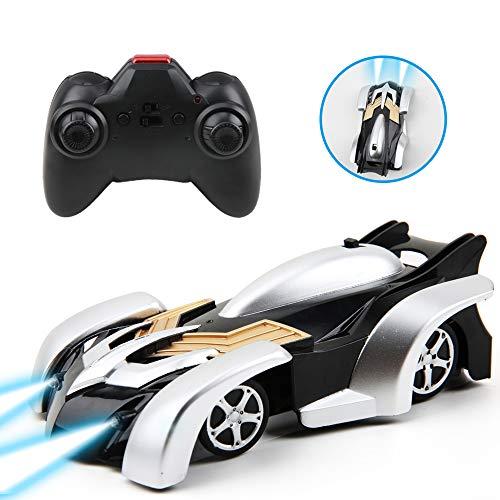 lbla auto telecomandata, 4wd macchina radiocomandata rc auto con 360 rotazione, luci led in testa e posteriore, ideale regalo giocattole per bambini (nero)