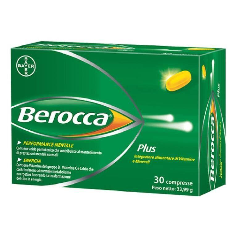 bayer s.p.a. berocca plus integratore dietetico 30cpr