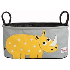 3 Sprouts Borsa passeggino Stroller Organizer (rinoceronte)