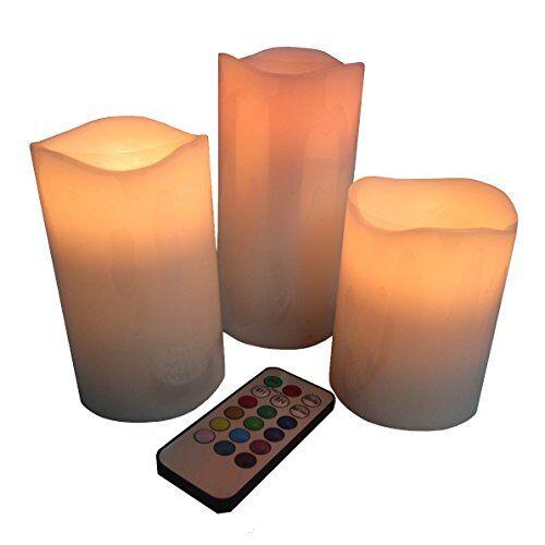 Zen Light Zen Luce BLT 3 Set di 3 LED Candele con telecomando