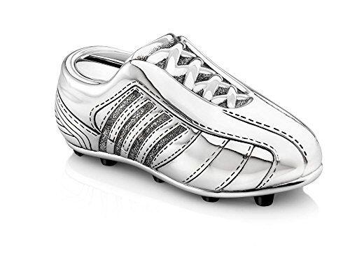 zilverstad salvadanaio scarpa da calcio piccola, in lega di zinco, argento, 55x129x59mm