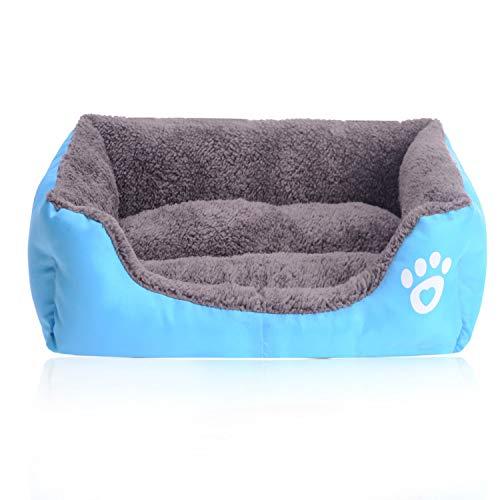 eglemtek cuccia divano letto lettino cuscino per cani cane pet animali (azzurro m)