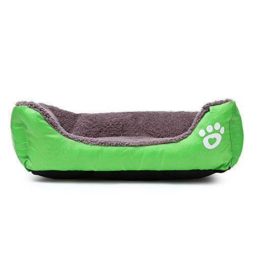 eglemtek cuccia divano letto lettino cuscino per cani cane pet animali (verde m)