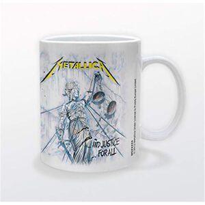 Lasgo Metallica Tazza And Justice for all, Ceramica, Bianco