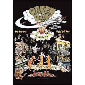 Heart Rock Bandiera Originale Green Day Dookie, Tessuto, Multicolore, 110x75x0.1 cm