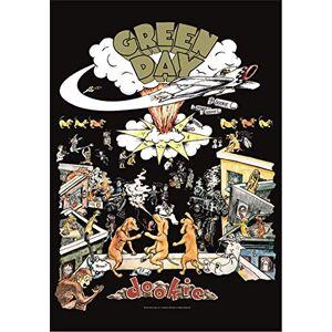 Heart Rock Bandiera Originale Green Day Dookie, Tessuto, Multicolore, 110x75x0.1 cm