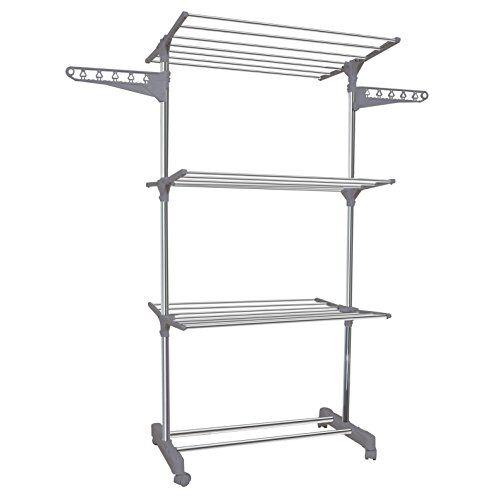 ourhouse stendibiancheria/garment rack, metallo, argento, metallo, silver, 57.00 x 138.00 x 168.00 cm
