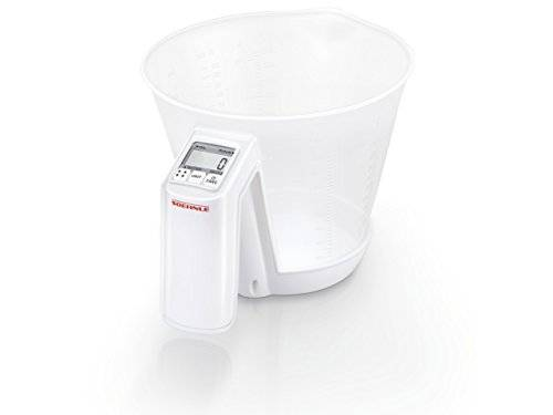 Soehnle Baking Star Bilancia da Cucina Elettronica Trasparente, Bianco