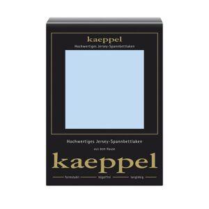 Kaeppel L-016753-24L2-U5KN - lenzuola singolo singolo in jersey con angoli elasticizzati 150 x 200 cm, colore: Azzurro