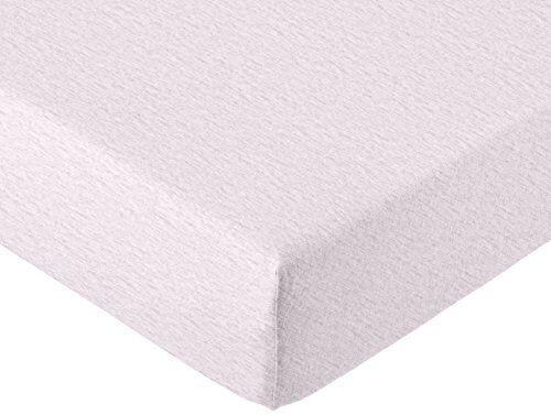 AmazonBasics - Lenzuolo con angoli Matrimoniale, in jersey mélange, Grigio chiaro 160 x 200 x 30 cm